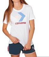 Converse Women's Mesh Star Chevron Crew Tee