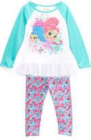 Children's Apparel Network Shimmer & Shine Green Raglan Tee & Leggings - Toddler & Girls