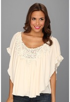 Scully Honey Creek Summer Romance Blouse (Cream) - Apparel