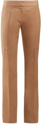 Stella McCartney Mid-rise Slim-leg Trousers - Womens - Camel