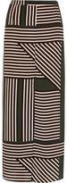 River Island Womens Green stripe print maxi skirt
