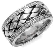 Effy Diamond and Sterling Silver Ring