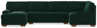 Apt2B Bradbury 3pc Sectional Sofa LAF in EVERGREEN VELVET