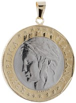 Italian Gold 1000 Lire Coin Pendant, 14K