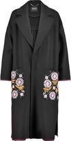 Markus Lupfer Chiara embellished floral-embroidered wool-blend coat
