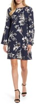 Halogen Petite Women's Bow Back Floral Shift Dress