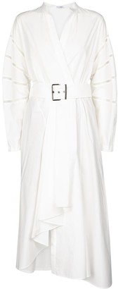 Brunello Cucinelli Embellished cotton shirt dress