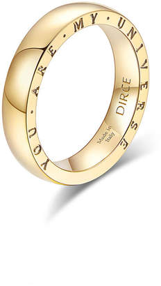 """Milani Alberto Dirce """"You Are My Universe"""" 18k Yellow Gold 4.3mm Band Ring, Size 5.75"""
