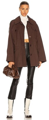 Acne Studios Oversized Military Jacket in Brown