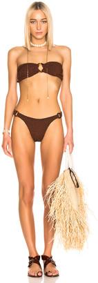 Hunza G Gloria Bikini in Metallic Bronze | FWRD