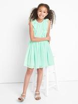 Gap Ruffle chiffon dress