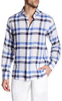Toscano Plaid Linen Regular Fit Shirt