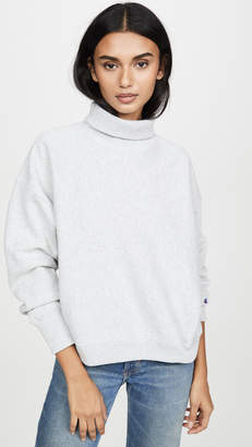 Champion Sleeve Logo High Neck Sweatshirt
