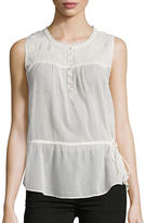 Jessica Simpson Sleeveless Peplum Top