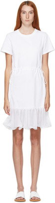 See by Chloe White Waist Tie T-Shirt Dress
