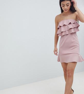 ASOS DESIGN Petite ruffle shift dress with pephem