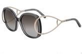Chloé Gray & Silver Oversize Sunglasses