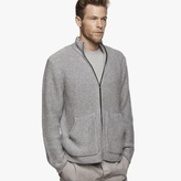 James Perse Cashmere Zip-Up Sweater