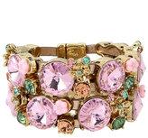 Betsey Johnson Marie Antoinette Stone Leather Magnetic Bracelet