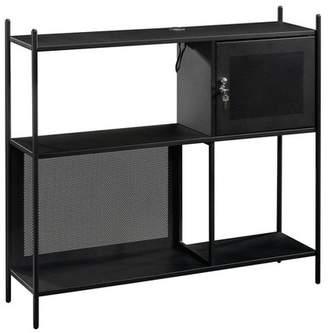 Sauder Boulevard Cafe Decorative Storage Cabinet Black