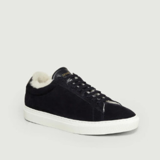 Zespà Navy Blue Leather Filled ZSP4 Sneakers - 37 | leather | navy blue - Navy blue