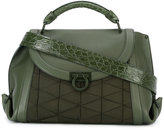 Salvatore Ferragamo structured satchel bag