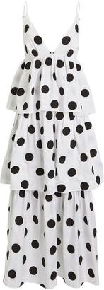 Mara Hoffman Bari Polka Dot Cotton Poplin Dress