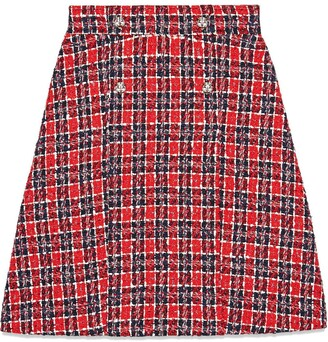 Gucci Tweed check A-line skirt