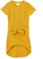 Pink Angel Mustard Tie-Waist Hi-Low Dress - Girls