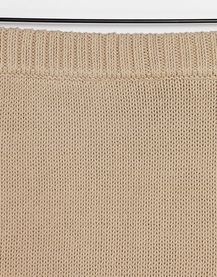 Thumbnail for your product : And other stories & co-ord knitted chunky rib mini skirt in beige