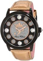Paris Hilton Women's PH.13181JSB/02 Fame Pave Glitter Rose Leather Watch