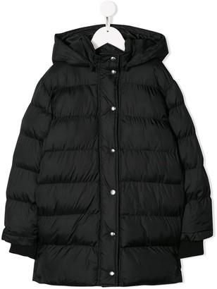 Msgm Kids Padded Hooded Coat
