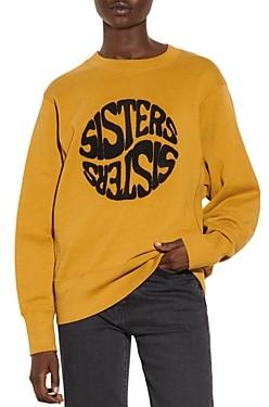 Sandro Sisters Embroidered Sweatshirt
