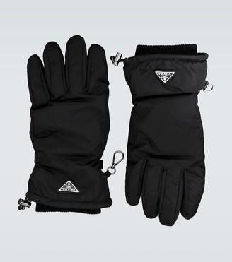 Prada Nylon gloves with logo
