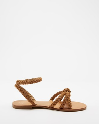 Spurr Women's Brown Strappy sandals - Terra Sandals - Size 5 at The Iconic