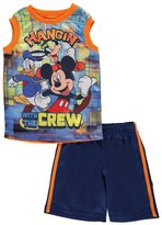 "Disney Mickey Mouse Little Boys' ""Hangin' with the Crew"" 2-Piece Outfit"
