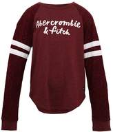 Abercrombie & Fitch SPORTY Long sleeved top maroon logo