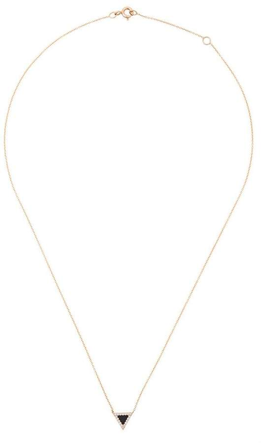 Diane Kordas onyx triangle Evil Eye necklace