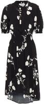Thumbnail for your product : BA&SH Poppy Shirred Printed Crepe Midi Dress
