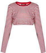 Dolce & Gabbana Striped Cropped Jersey Top