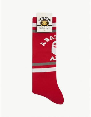 A Bathing Ape College cotton-blend socks