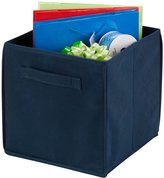 Honey-Can-Do Non-Woven Foldable Cube- Navy