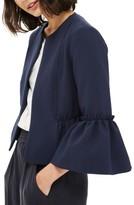 Topshop Women's Raw Ruffle Crop Jacket