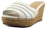 Lauren Ralph Lauren Karlia Open Toe Leather Wedge Sandal.