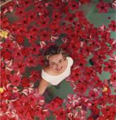"Jonathan Adler Slim Aarons ""Hibiscus Flowers"" Photograph"