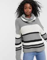 Brave Soul humbug jumper in stripe