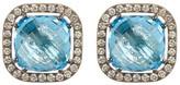 Suzanne Kalan 14K Gold Embellished Stone Stud Earrings