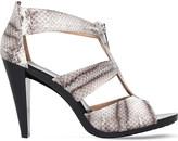 MICHAEL Michael Kors Berkley snake-embossed leather heeled sandals