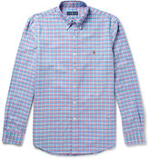Polo Ralph Lauren - Slim-fit Button-down Collar Checked Cotton Oxford Shirt