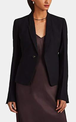 Rick Owens Women's Virgin-Wool-Blend Cady One-Button Blazer - Black